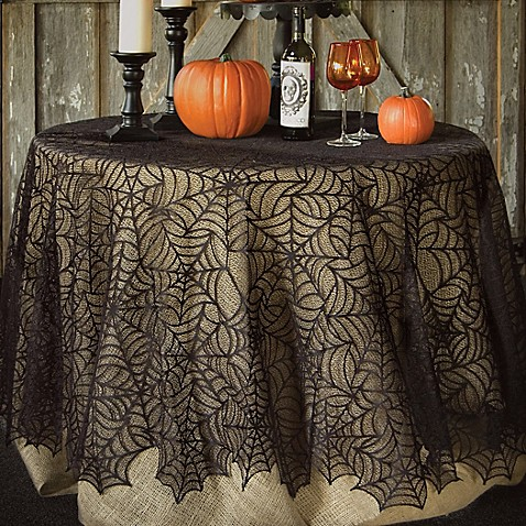 Heritage Lace 174 Spider Web 90 Inch Round Tablecloth In