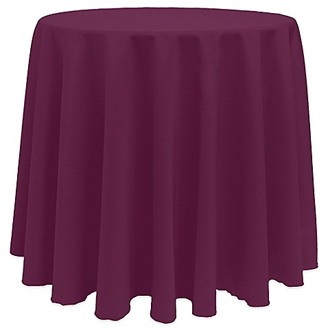 Buy Basic 108-Inch Round Tablecloth in Magenta from Bed ...