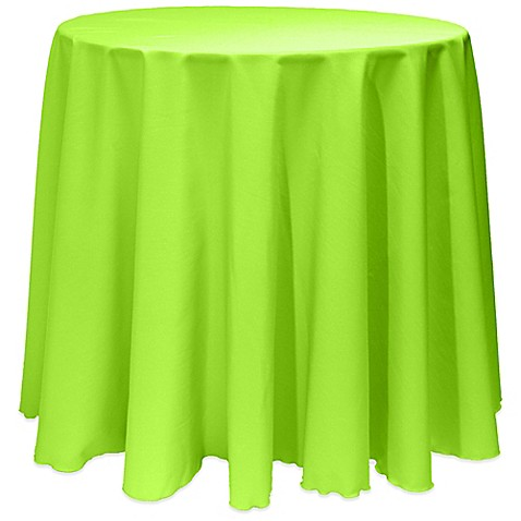 Buy Basic 90 Inch Round Tablecloth In Neon Green From Bed