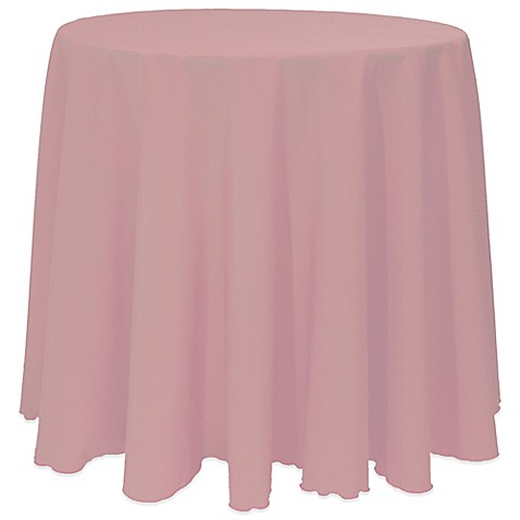 Buy Basic 90 Inch Round Tablecloth In Mauve From Bed Bath