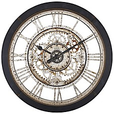 image of antique gear wall clock