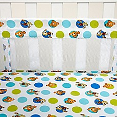 image of Disney® Nemo Secure-Me Mesh Crib Liner
