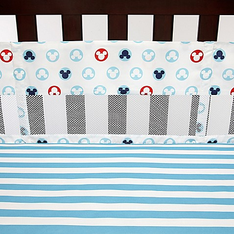 Disney 174 Mickey Mouse Secure Me Mesh Crib Liner Buybuy Baby