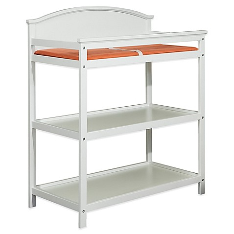 Westwood Design Harper Pine 3 Shelf Changing Table In White