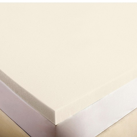 image of authentic comfort 3inch memory foam mattress topper