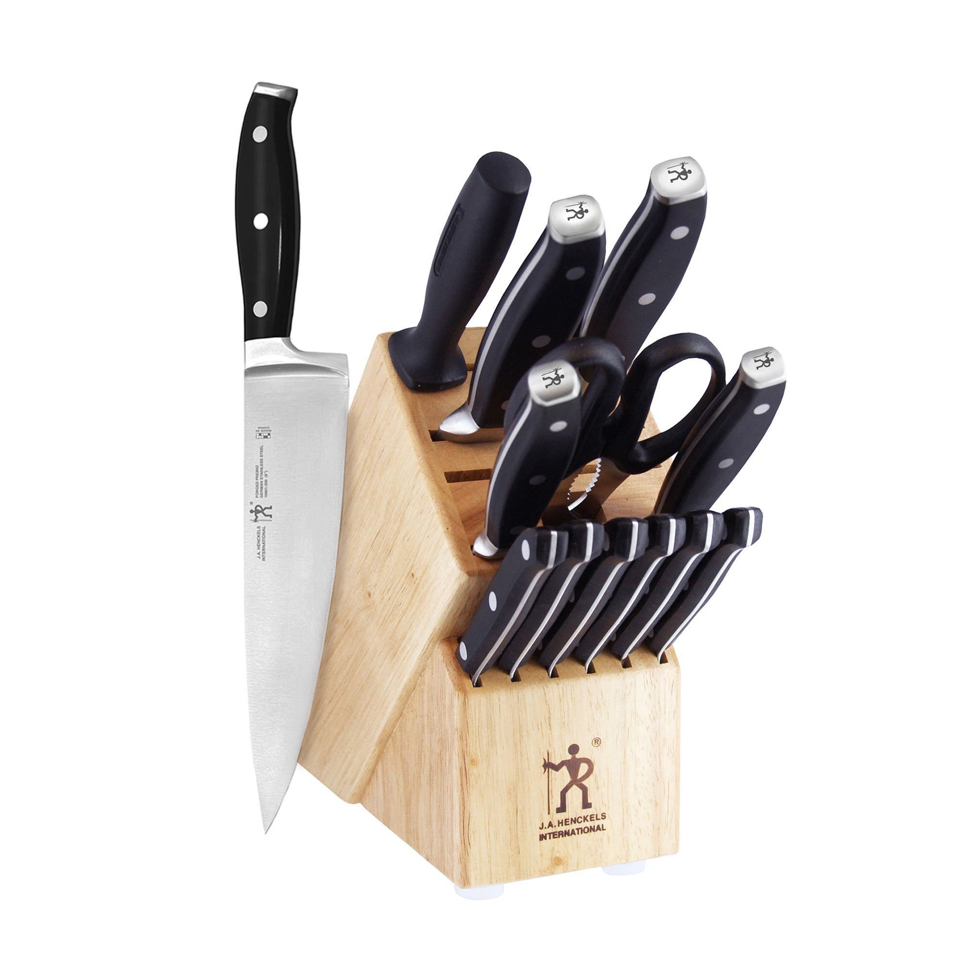 j a henckels international premio 14 piece cutlery block set