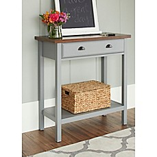 image of Chatham House Newport Console Table with Drawer in Grey