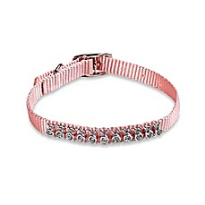 image of Hyper Pet™ Adjustable Novelty Rhinestone Dog Collar in Blush Pink