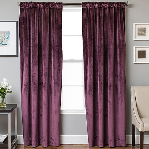 Buy Velvet Rod Pocket Back Tab 63 Inch Lined Window