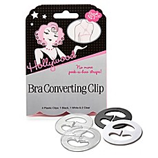 image of Hollywood Fashion Secrets® Bra Converting Clip (Set of 4)