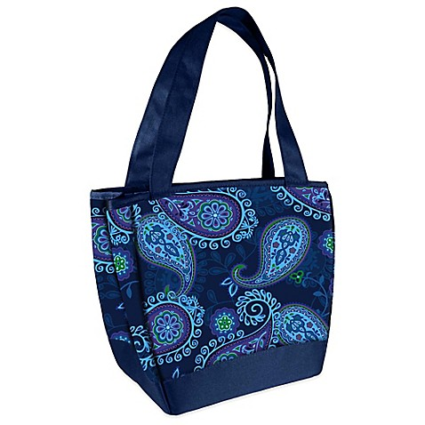 Fit Amp Fresh 174 Hyannis Insulated Lunch Bag In Blue Paisley