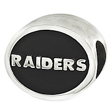 image of Sterling Silver NFL Oakland Raiders Enameled Bead