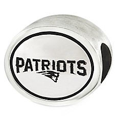 image of Sterling Silver NFL New England Patriots Antiqued Bead