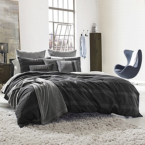 Kenneth Cole Reaction Home Obsidian Pillow Sham In Black