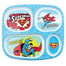 image of Bumkins® DC Comics Superman Melamine Divided Plate