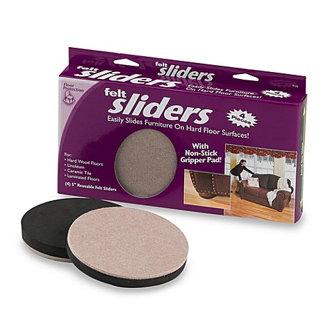 Ez Sliders 174 4 Pack Round 5 Inch Felt Movers Bed Bath