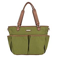 image of timi & leslie® Tag-A-Long Tote Diaper Bag in in Serengeti Green