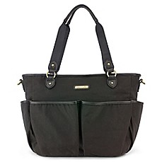 image of timi & leslie® Tag-a-Long Tote Diaper Bag in Soho Black
