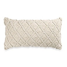 image of Wamsutta® Vintage Washed Linen Macramé Oblong Throw Pillow