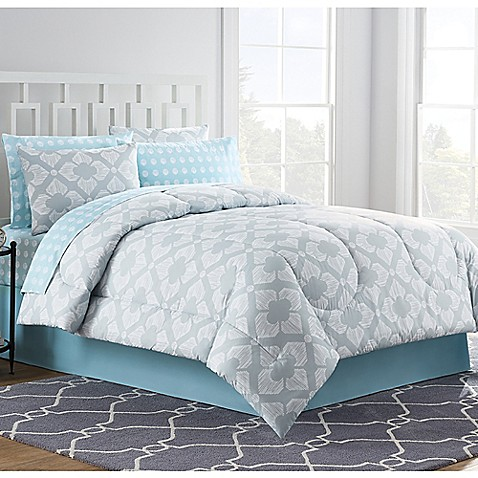 chandra comforter set in light grey bed bath beyond. Black Bedroom Furniture Sets. Home Design Ideas