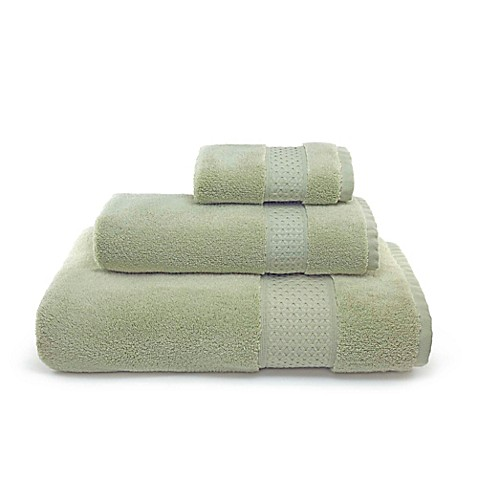 buy villa di borghese palermo bath towels in sage green set of 3 from bed bath beyond. Black Bedroom Furniture Sets. Home Design Ideas