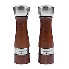 image of Cole & Mason Oldbury 2-Piece Salt and Pepper Gift Set in Walnut