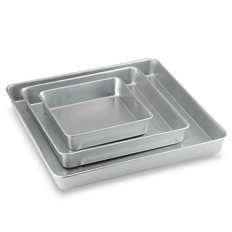 Square Wedding Cake Pans Set