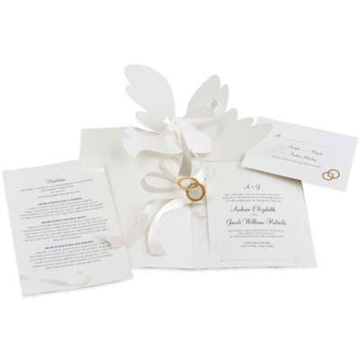 24Count Dove PopUp Wedding Invitations Bed Bath Beyond
