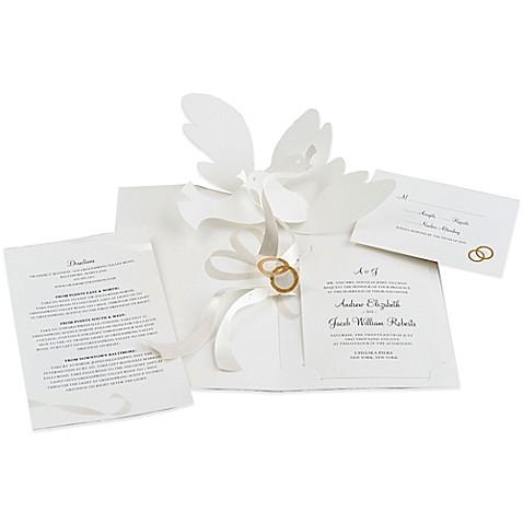 24 Count Dove Pop Up Wedding Invitations