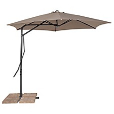 image of california sun shade 10foot cantilever round umbrella