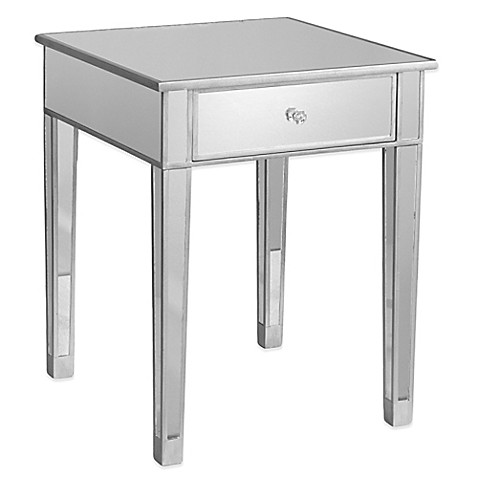 Southern Enterprises Mirage Mirrored Accent Table