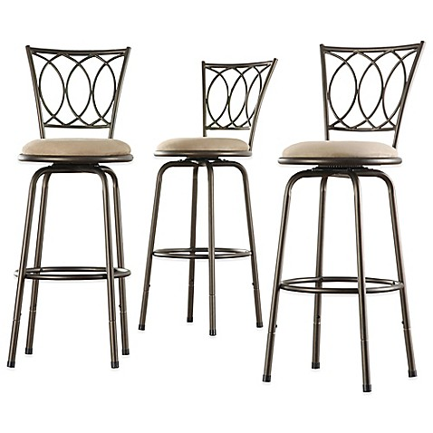 Verona Home Freemont Adjustable Swivel Bar Stool Set Of 3