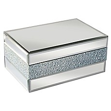 image of Allure by Jay Pebbled Mirror Jewelry Box