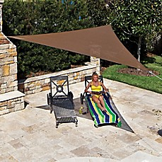 image of coolaroo 11foot 10inch triangle shade sails