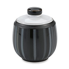 image of Denby Jet Stripes Covered Sugar Bowl