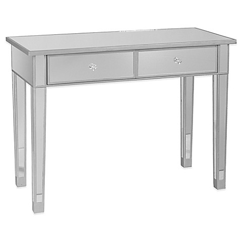 Image Of Southern Enterprises Mirage Mirrored 2 Drawer Console Table