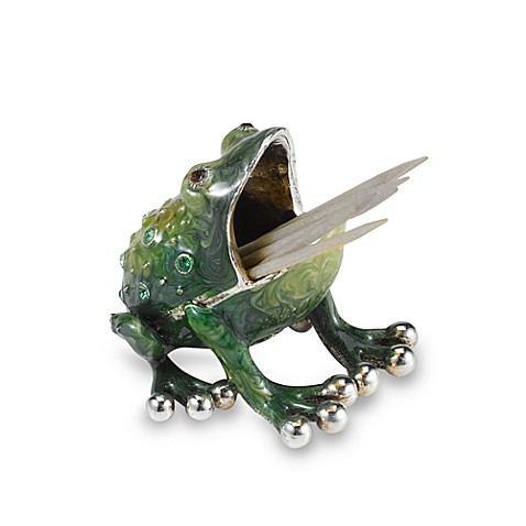 Quest Gifts And Design Toothpick Holder In Frog Bed Bath