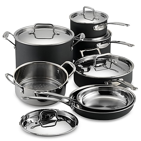 cuisinart® multiclad unlimited™ 12-piece cookware set and open