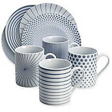 image of Mikasa® Cheers Dinnerware Collection in Blue