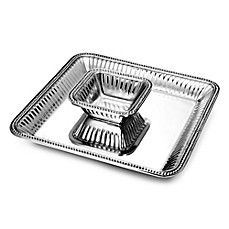 image of Wilton Armetale® Flutes & Pearls 2-Piece Chip 'n Dip Dish