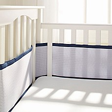 Breathable BabyR Deluxe Mesh Crib Liner In Navy
