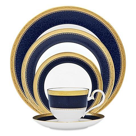 Noritake 174 Odessa Cobalt Dinnerware Collection In Gold