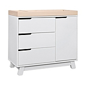 Awesome Babyletto Hudson 3 Drawer Changer Dresser In White/Washed Natural
