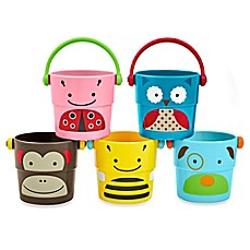 image of SKIP*HOP® 5-Piece Zoo Stack and Pour Buckets