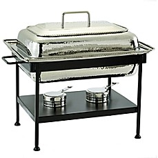 image of old dutch 8 qt rectangular chafing dish in polished nickel
