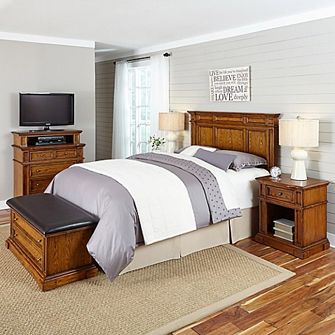 home styles americana 5 piece headboard and bedroom furniture set bed bath beyond