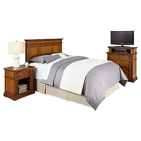 Buy home styles americana queen full headboard nightstand for Headboard dresser and nightstand set