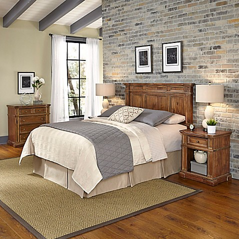 Home Styles Americana Vintage 4 Piece Headboard And Bedroom Furniture Set Bed Bath Beyond