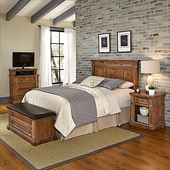 image of Home Styles Americana Vintage 4 Piece Headboard and Bedroom  Furniture Set. Bedroom Sets   Bed Bath   Beyond