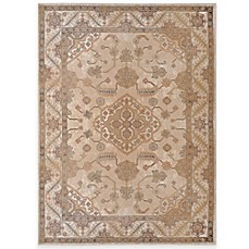 image of Legends Collection 2 Traditional 5-Foot 2-Inch x 7-Foot 2-Inch Area Rug in Beige